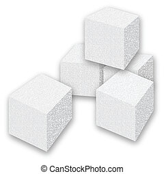 Sugar Cubes - Scalable vectorial image representing a sugar...