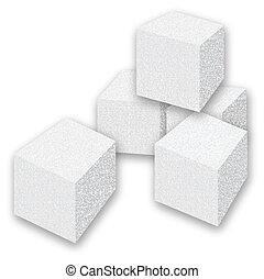 Sugar Cubes - Scalable vectorial image representing a sugar...