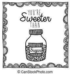 sugar drawing