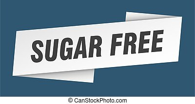sugar free banner template. sugar free ribbon label sign