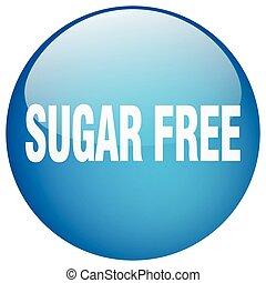 sugar free blue round gel isolated push button