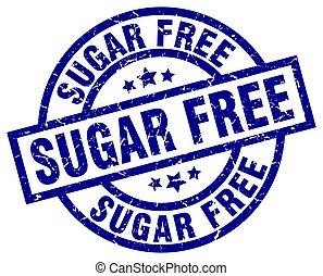 sugar free blue round grunge stamp