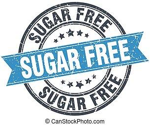 sugar free blue round grunge vintage ribbon stamp