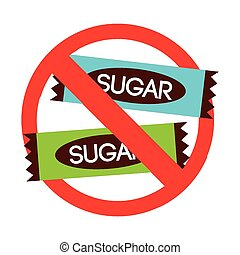 sugar free design, vector illustration eps10 graphic