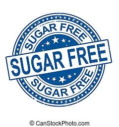 Sugar free grunge rubber stamp on white background, vector illustration