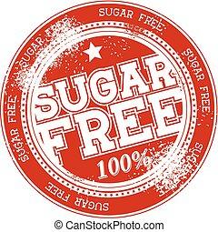 sugar free grunge stamp vector