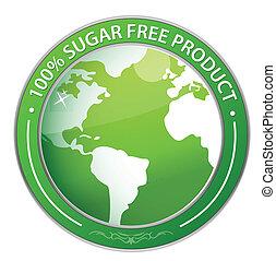 Sugar Free Label illustration
