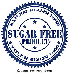 Sugar Free Product-stamp - Rubber stamp with text Sugar Free...
