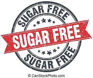 sugar free red round grunge vintage ribbon stamp