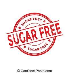 Sugar free red rubber stamp.
