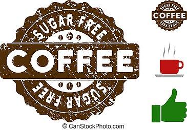 Sugar Free Reward Stamp with Grunge Effect