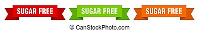 sugar free ribbon. sugar free isolated paper sign. banner