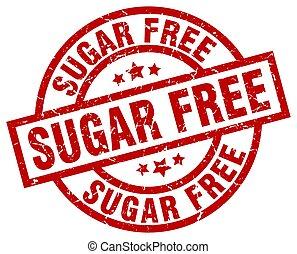 sugar free round red grunge stamp