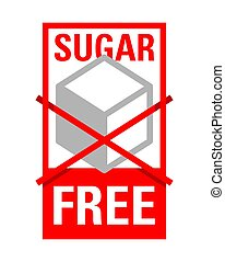 Sugar free sign - crossed sugar cube