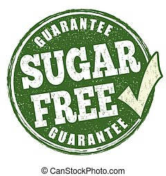 Sugar free sign or stamp