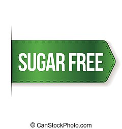 Sugar Free sign ribbon