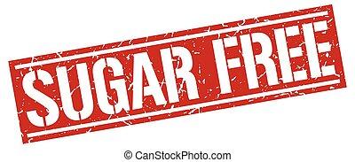 sugar free square grunge stamp