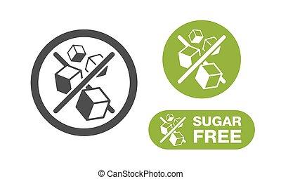 Sugar Free stamp - in 3 variations