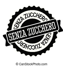 sugar free stamp in italian