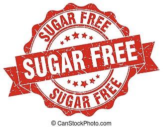 sugar free stamp. sign. seal
