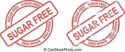 sugar free stamp sticker
