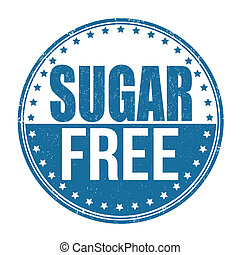 Sugar free stamp - Sugar free grunge rubber stamp on white ...