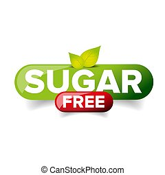 Sugar Free vector button