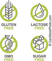 Sugar, Gluten, Lactose, GMO free set