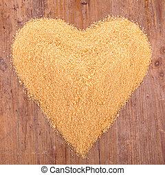 sugar heart shape