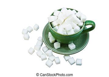 Sugar in coffee cup