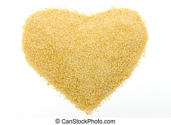 Sugar in heart shape
