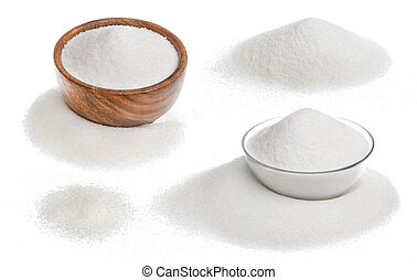 Sugar isolated on white background with clipping path