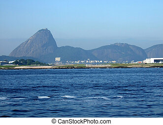 Sugar Loaf and airport - Sugar Loaf with airport and...