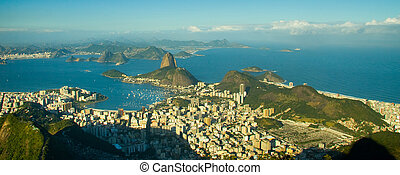 Sugar Loaf in Rio de Janeiro - The sugar Loaf is a green,...