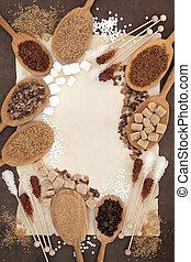 Sugar Sampler - Brown and white sugar in oak wood spoons ...