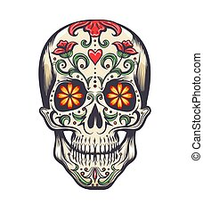 Sugar Skull Decoration Tattoo