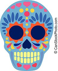 Sugar Skull flat - Holy Death, Day of the Dead, mexican ...