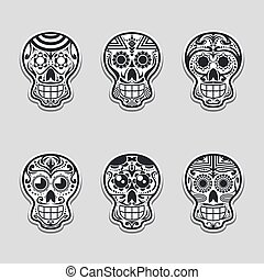 Sugar skull vector illustration