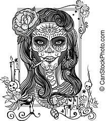 sugar skull woman