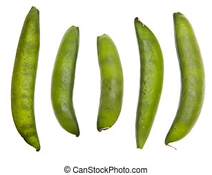 Sugar Snap Peas Isolated on white with a clipping path.