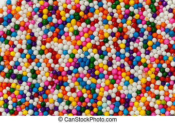 Background Rainbow Colored Sprinkles