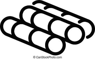 Sugar sticks icon, outline style