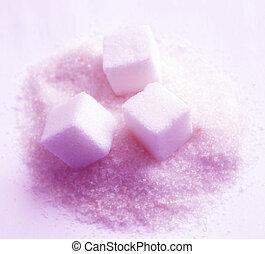 Sugar - sugar cubes and sugar