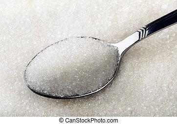 Sugar - Tea spoon of white granulated sugar