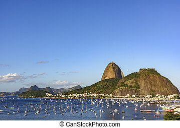 Sugarloaf and Urca - Sugar Loaf, cove of Botafogo and Urca...