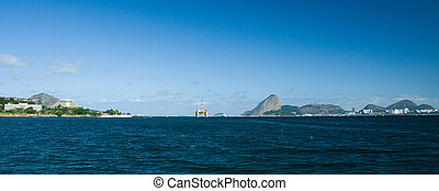 Sugarloaf mountain in Rio de Janeiro - Distant view of...