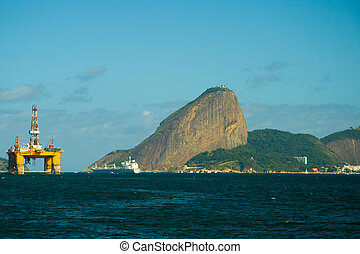 Sugarloaf mountain in Rio de Janeiro - Sugarloaf Mountain...