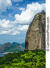 Sugarloaf mountain - Scenic view of Sugarloaf mountain with...