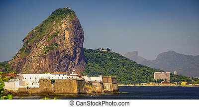 Sugarloaf Mountain - Fortress at the waterfront with...