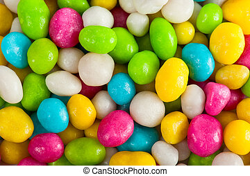 Sugary candy background - Multicolored sweet sugary candy...